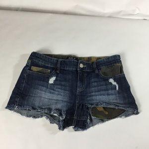 Allen B shorts denim size 10 Como inserts pockets